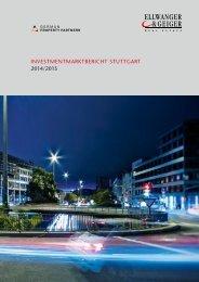 Investmentmarktbericht Stuttgart 2014/2015