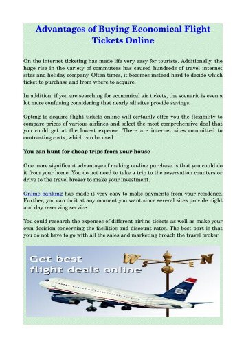 advantages of getting low cost air travel tickets online
