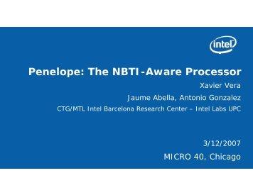 Penelope: The NBTI-Aware Processor - Microarch.org