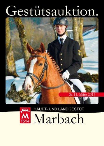 Gestütsauktion Marbach 14. März 2015