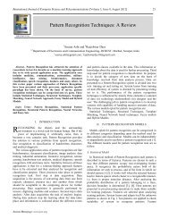 Pattern Recognition Techniques: A Review - International Journal of ...