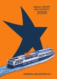 Strintzis Lines Annual Report and Accounts 2000 - Attica Group