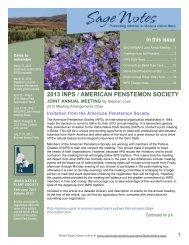 Vol 35(1) - February 2013 issue - Idaho Native Plant Society