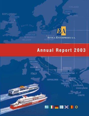 Annual Report 2003 - Attica Group