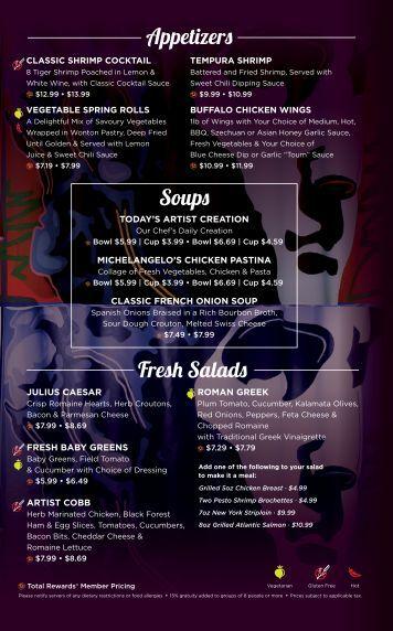 Soup Fres Salad Appet er Fla - Caesars Windsor