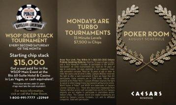 poker room - Caesars Windsor