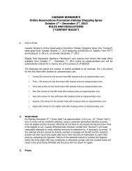 rules & regulations - Caesars Windsor