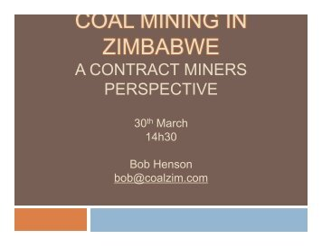 Bob Coal Presentation Final Draft 2007