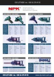 ITMS 2009 Catalogue NPK Heavy Duty Air Tools