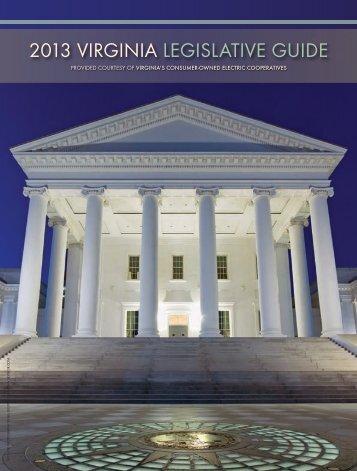 2013 VIRGINIA LEGISLATIVE GUIDE - Cooperative Living Magazine