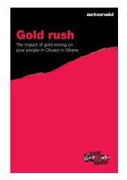 gold rush - ActionAid