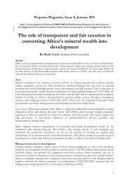 The Role of Transparent and Fair Taxation in ... - Curtis Research