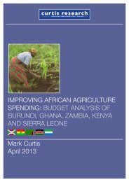 IMPROVING AFRICAN AGRICULTURE SPENDING ... - Africa Adapt