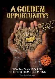 A Golden Opportunity? How Tanzania is failing ... - Pambazuka News