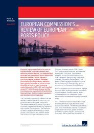 european commission's review of european ports policy - HFW