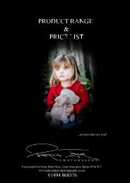Patricia Taylor Photography PRODUCT RANGE & PRICELIST