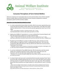 Consumer Perceptions of Farm Animal Welfare