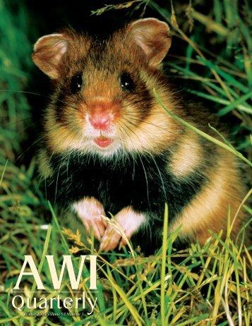 Quarterly Quarterly - Animal Welfare Institute
