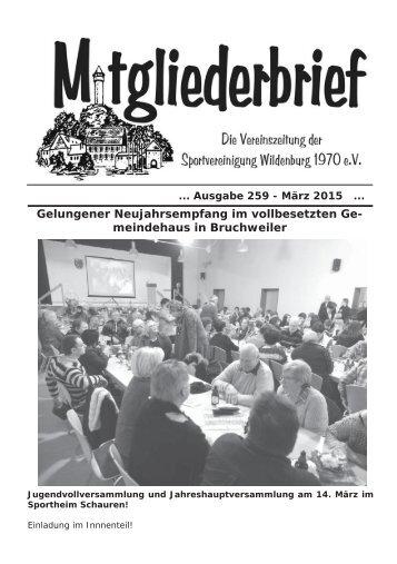 Ausgabe 259 - März 2015