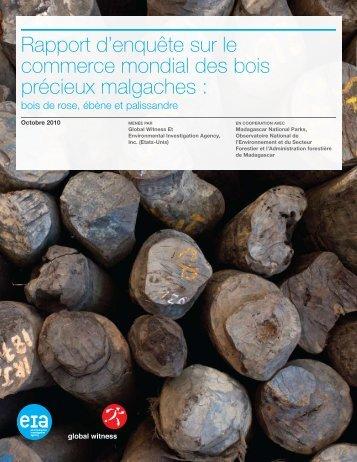 Rapport d'enquête sur le commerce mondial des bois précieux ...