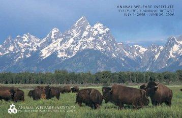 AWI Online - Animal Welfare Institute