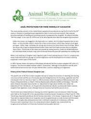 legal protections for farm animals at slaughter - Animal Welfare ...