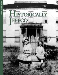 2009: Issue 30 - Historic Jeffco