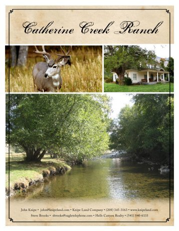 Catherine Creek Ranch - Knipe Land Company