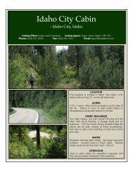 Idaho City Cabin edit - Knipe Land Company