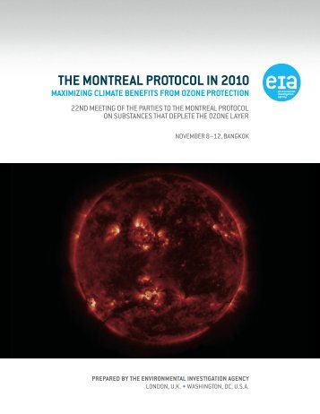 the montreal protocol in 2010 - Environmental Investigation Agency
