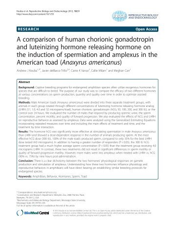 A comparison of human chorionic gonadotropin and luteinizing ...