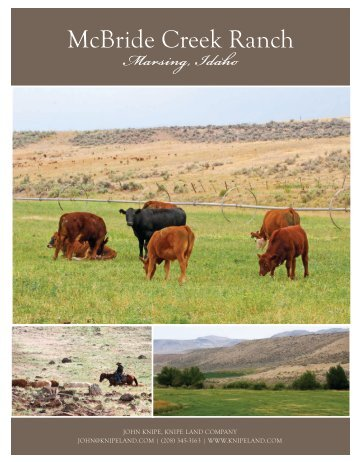 McBride Creek Ranch - Knipe Land Company