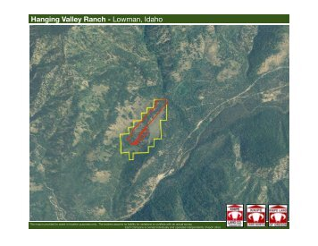 Hanging Valley Ranch maps edit - Knipe Land Company