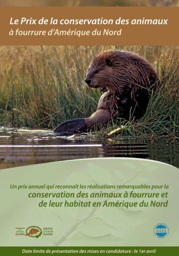 Brochure sur le Prix de la conservation - Fur Institute of Canada
