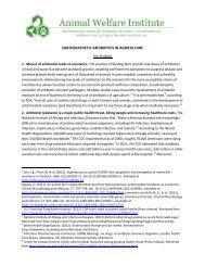 antibiotics - Animal Welfare Institute