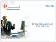Order Management: Order to Invoice