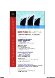 Cunard Sales Wave - Flüge