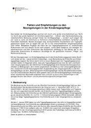 Fakten und Empfehlungen, 7. April 2009 - Laufstall
