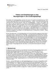 Neuregelungen in der Kindertagespflege ab September 2009