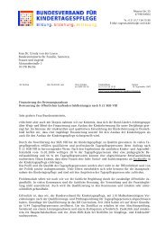 Anschreiben Dr. Ursula von der Leyen - Laufstall