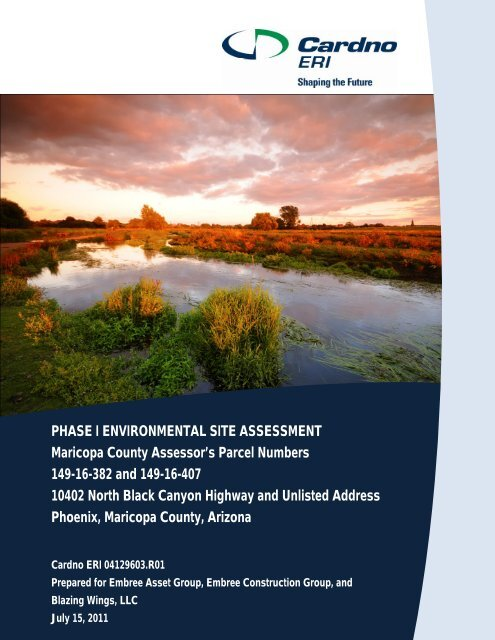 PHASE I ENVIRONMENTAL SITE ASSESSMENT Maricopa County ...