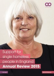 Full report - Single homelessness support in England 2015