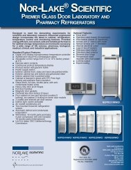 Premier™ Glass Door Laboratory & Pharmacy ... - Nor-Lake, Inc.