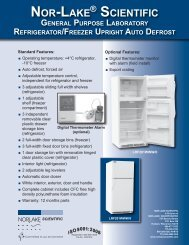 Freezer Upright Auto Defrost Specification Sheet - Nor-Lake, Inc.