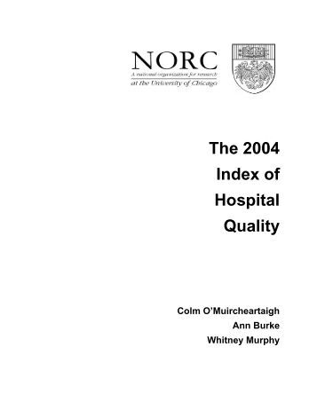 The 2004 Index of Hospital Quality