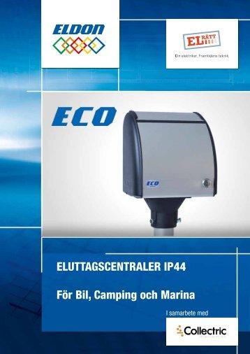 EluttagscEntralEr IP44 För Bil, camping och Marina - Collectric