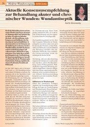 Moderne Wundversorgung SPECIAL - Werner Sellmer
