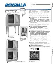 Imperial Turbo Flow Gas Convection Ovens - Unisource food ...