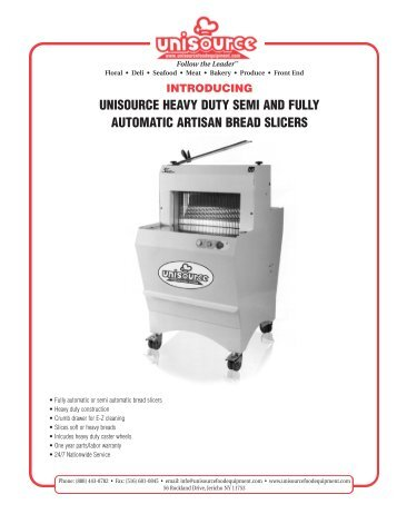 Artisan Bread Slicers - Unisource food Equipment