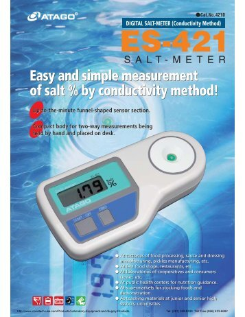 Easy and simple measurement of salt % by conductivity method ...